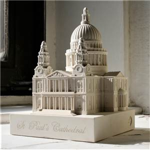 St Paul's Cathedral - Detailed model in Gypsum Plaster